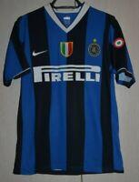 INTER MILAN ITALY 2006/2007 HOME FOOTBALL SHIRT JERSEY NIKE #17 SIZE S