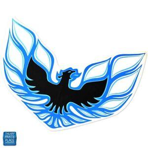 """1970-1972 Firebird Trans Am T/A Front Bumper """"Bird"""" Decal Blue EA"""