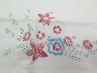 Vintage Floral Printed  Cotton Pillowcase Blue Red Green 30x20