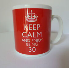 Keep Calm and Enjoy Being 30 Gift Mug Cup Carry On 30th Birthday Present Fun