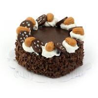 Puppenhaus Miniatur Doppelte Schokolade Torten