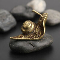 Chinese old Antique Collectible Bronze snail Tea spoon Pendants statue