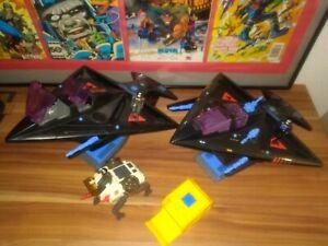 Star Com Vintage Figuren Flugzeuge Fahrzeuge coleco Mattel Shadow Bat lot set us