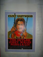 WESTERN/CLINT EASTWOOD/THE OUTLAW JOSEY WALES/WF/affiche belge