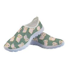Owl Cute Womens Casual Fashion Flat Shoes Breathable Sneakers Running Slip On