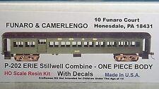 Funaro F&C HO Erie Stillwell Modernized Coach, Stillwell Trucks  Kit 202