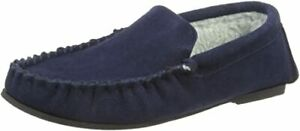 Mens Gents Slip On Warm Comfy Suede Leather Moccasins Non Slip Slippers Size 7