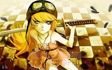 Poster A3 Monogatari Bakemonogatari Shinobu Shojo Manga Anime 01