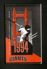 San Francisco Giants--1994 Pocket Schedule--Budweiser