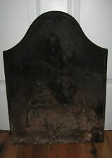 Antique Civil War Union Cavalry Cast Iron Fireplace Cover Mantle Rare 1800s Vtg