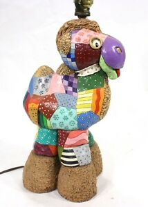 Hand Painted Lamp Base Baby Children's Animal Theme Camel Bright Multi-Colored