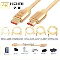 1m 10m Ultra High Speed HDMI 2160P 2Kx4K 3D TV Ethernet HDTV Adapter Cable lot