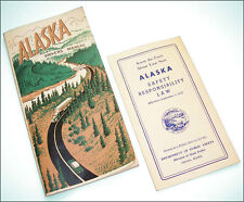 Vintage 1958-9 Alaska Drivers Manual booklet + safety law M Stepovich, Gov