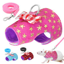 Small Animal Hamster Rabbit Harness and Leash Ferret Pig Walking Vest Clothes Sm