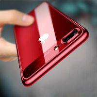 Luxury Slim Hybrid Hard Clear Back Case Shockproof Cover for iPhone 6 6s 7 Plus