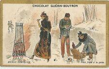 Chromo Guérin Boutron menus comiques cuisinier vin potage soupe