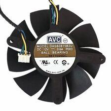 75mm DASB0815b2U Fan for  VGA Video Card  DELL GTX 560Ti 12V 0.6A 4pin