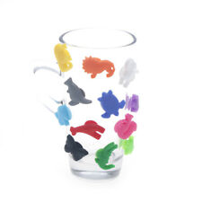 Animal Suction Cup Wine Glass Silicone Label Wine Glasses Recognizer Marker 0tm