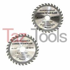 "(2) 4-3/8"" Saw Blade 30T. Carbide Tipped Wood Cutting Circular saw 3/4-5/8 Arbor"