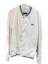 LaCoste White Baseball Jacket - NWT; Size Small