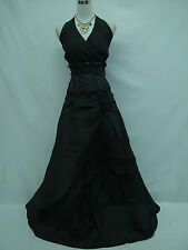 Cherlone Plus Size Black Halterneck Ballgown Wedding Formal Evening Dress 24-26