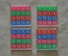 Four Packs New Plastic Classic 15 Number Game Puzzle Brain Teaser Made in Japan