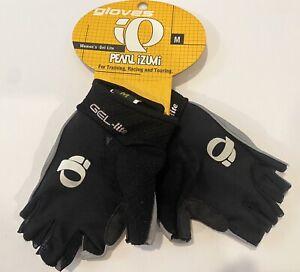 Pearl Izumi Women's Gel-Lite Black Gray Padded Cycling Gloves Size Medium NEW!