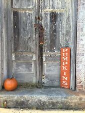 "Large Rustic Wood Sign - ""Pumpkins For Sale"" Fall, Halloween, Thanksgiving"