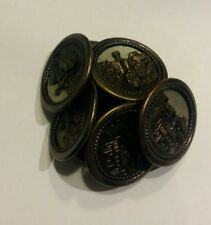 10pc 11 mm antique bronze médiévale Floral Métallique de style Shirt Knitwear Bouton 3698