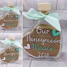 Personalised Honeymoon Sand Bottle Jar Sand blending Glass Wedding Holiday Gift