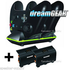 Dual Charge Charging Dock for Xbox One Controllers + 2 Batteries USA DGXB1-6603