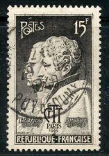 STAMP / TIMBRE FRANCE OBLITERE N° 845 / CELEBRITE / ARAGO ET AMPERE