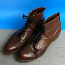 Vintage Men's Nunn-Bush & DuraLit Cap-Toe Lace-Up Chukka Boot Shoe Size 9.5