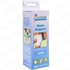 Large White Knee Support Tube Sock ELASTICATED Comfort Injury Brace Leg Thigh