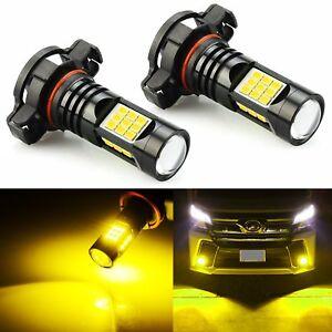 JDM ASTAR 5202 LED Fog Light Bulbs for Chevrolet Silverado 1500 2008-2015 Yellow