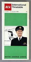 BEA BRITISH EUROPEAN AIRWAYS INTERNATIONAL AIRLINE TIMETABLE SUMMER 1966 NO.36
