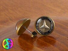 Mens Stud Earrings Studs Mercedes Benz Vintage Antique Jewelry Gift Gifts