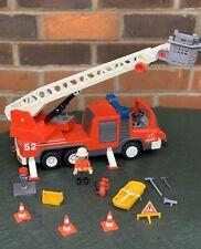 Playmobil Fire Engine Geobra 3879 Ladder Fire Rescue Truck Figure