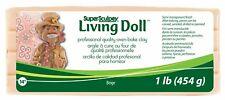 [1kg=29,74€] Super Sculpey Living Doll ofenhärtende Modelliermasse 454g Beige