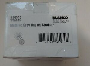 Blanco Metallic Gray Basket Strainer Brand New 442248