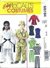 McCall's Sewing Pattern 6184 Scrubs Prisoner Karate Halloween Costumes Child 6-8