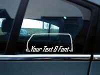 x2 Custom YOUR TEXT car stickers - for VW T2 camper van transporter   classic