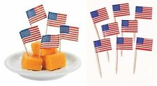 30 USA Sandwich Flag Picks Party Flag Food Cake Cocktail Sticks American Summer