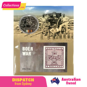 Impressions 2015 - Boer War - 095/150 - Centenary of WWI Coin & Mini Sheet Pack