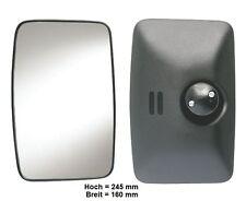Außenspiegel Spiegel Wohnmobil LKW Bus T1 Kasten LKW MB 207 245x160mm ø18-32mm