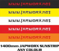 140cm x 20cm JAPWORX WWW.JAPWORX.NET SUN STRIP CAR STICKER jdm decal sunstrip