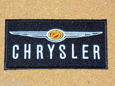 CHRYSLER CARS AMERICAN MOTORSPORTS MOTOR RACING SEW/IRON ON PATCH BLACK STRIPE