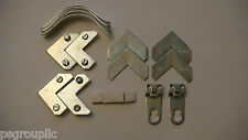 10 SETS OF EURO HANGER METAL FRAME HARDWARE POLY PACK WITH EURO HANGERS + SAMPLE