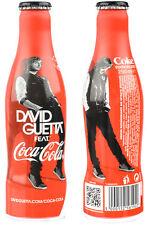 """Bottiglia Alluminio Coca Cola """"David Guetta"""" 250ml Da Francia anno 2012 LEGGERE!"""