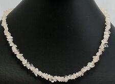 Rose Quartz Gemstone Chain ca. ca.45cm Long Snap Lock Tumbled